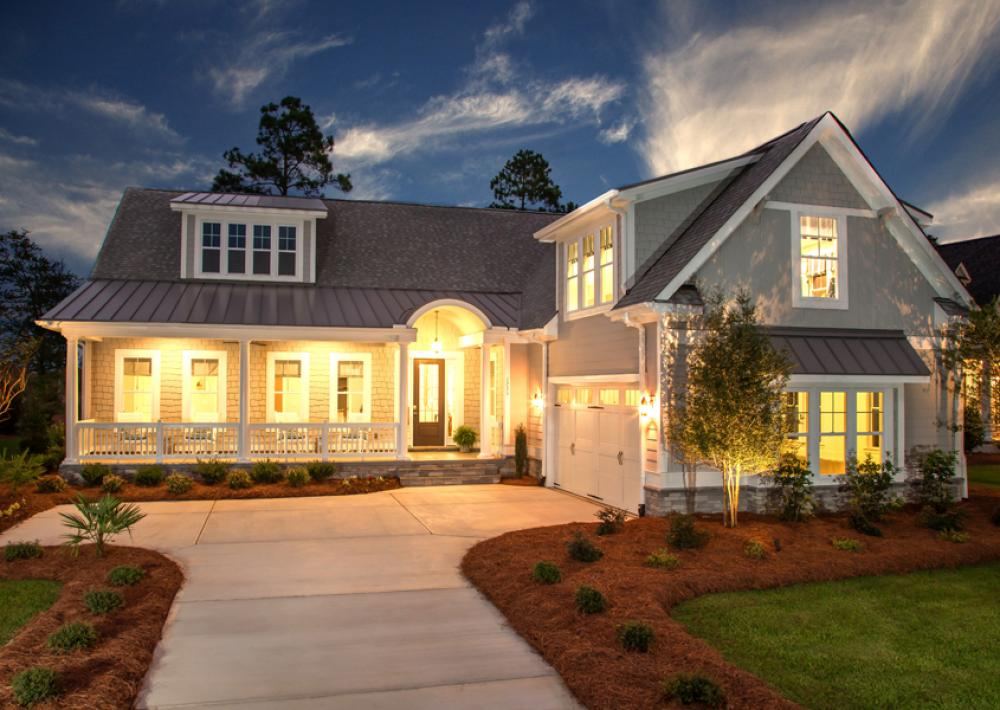 True Homes plan with large front porch