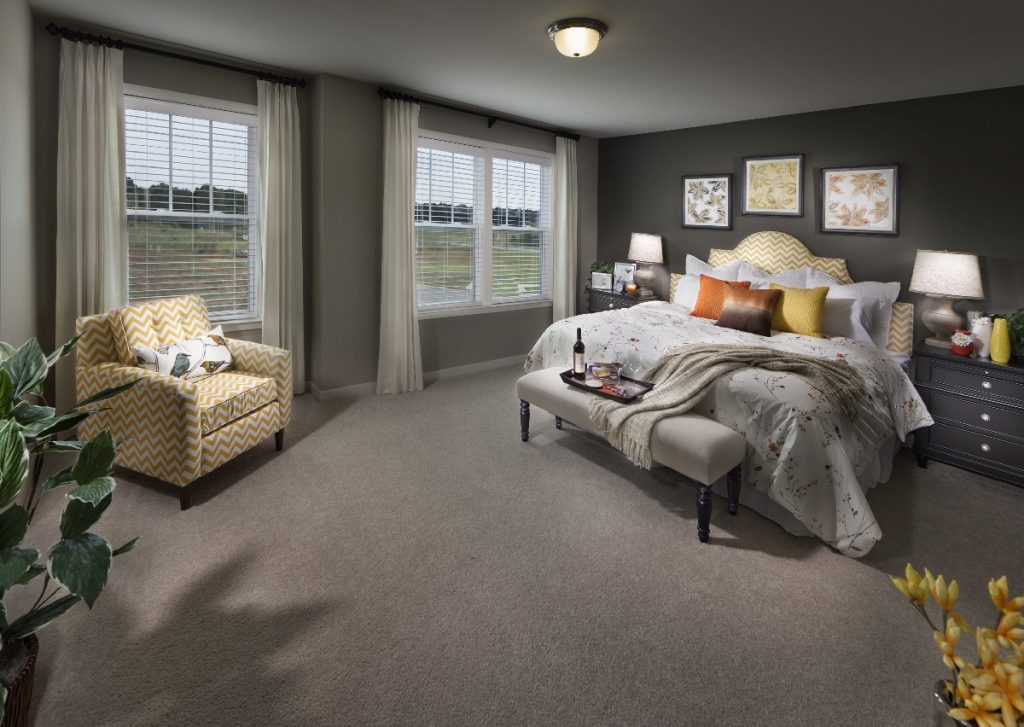 new home master bedroom in High Point NC