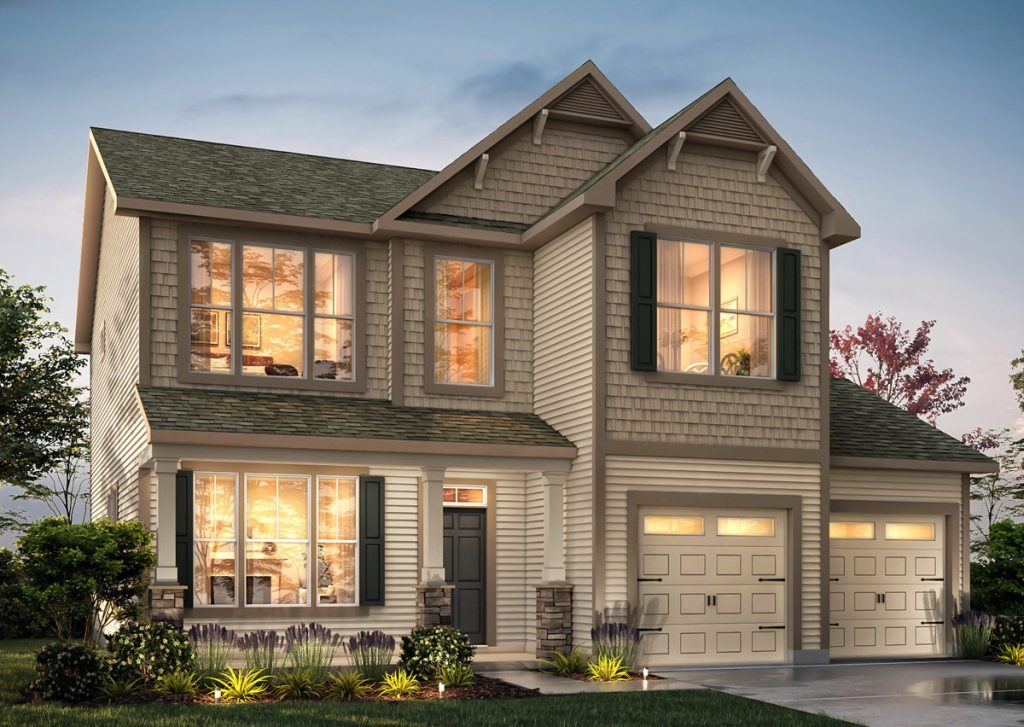 Exterior rendering of The Keagan Floorplan, part of the True Homes Uptown Collection